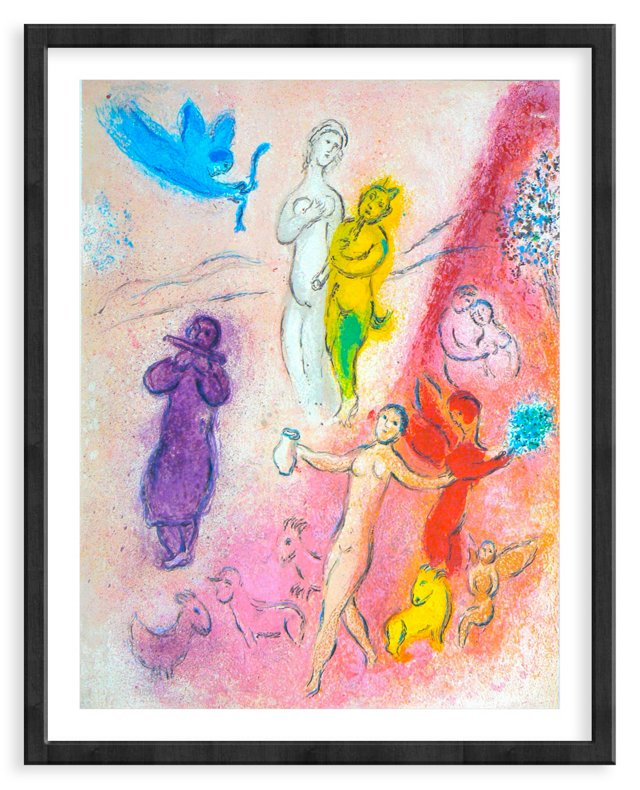 Chagall, Mourlot 332, The Syrinx Fable