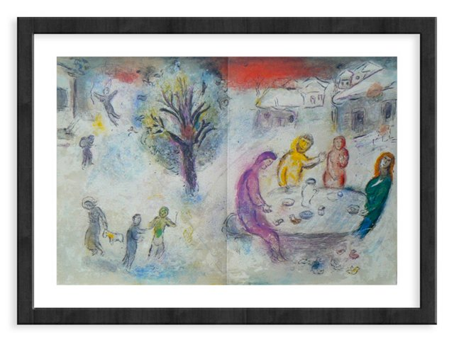 Chagall, 334, The Meal at Dryas' House