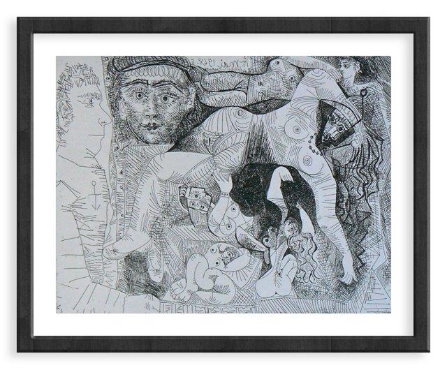 Picasso, Gravure 62, 1968