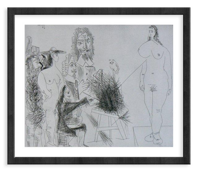Picasso, Gravure 64, 1968