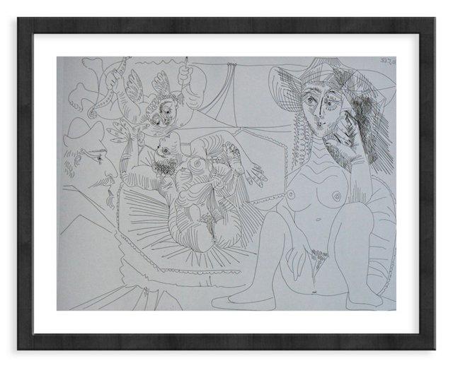 Picasso, Gravure 71, 1968