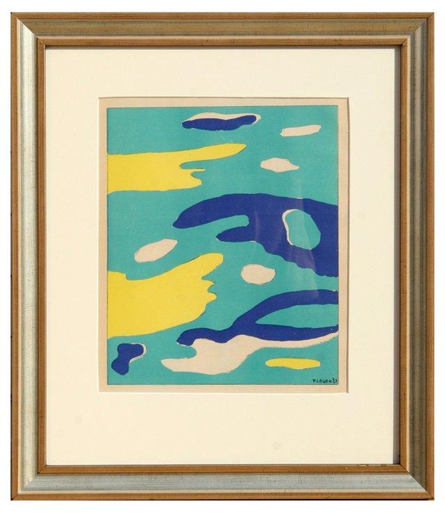 """Fernand Leger, """"Water"""" Lithograph 1937"""