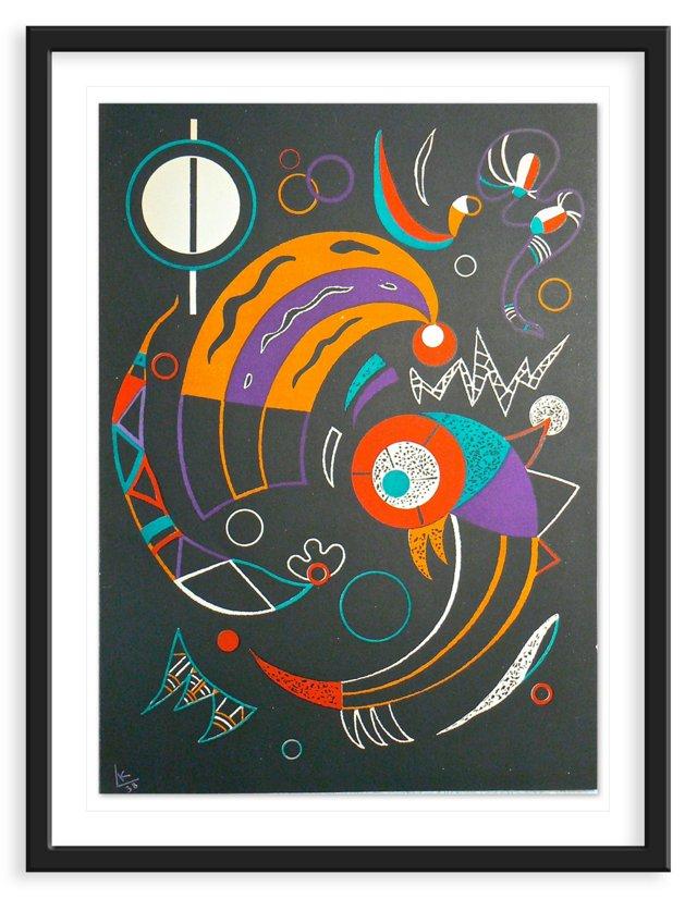 "Kandinsky, ""Comets"", Lithograph 1938"