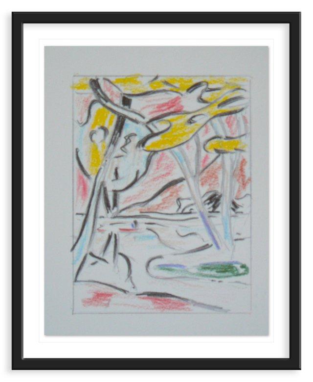 """Lichtenstein, """"Untitled"""" Lithograph II"""
