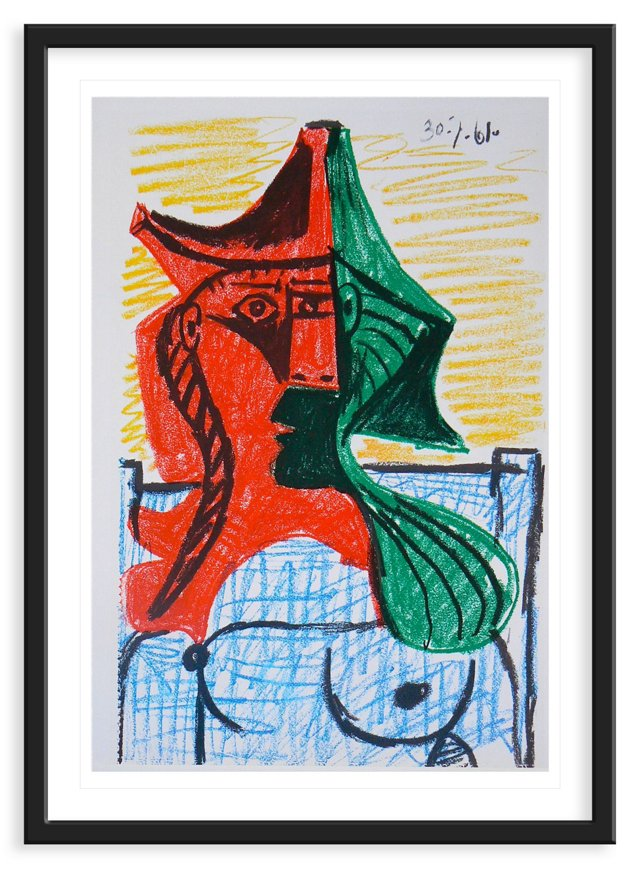 """Pablo Picasso,""""Untitled"""",Lithograph,1937"""