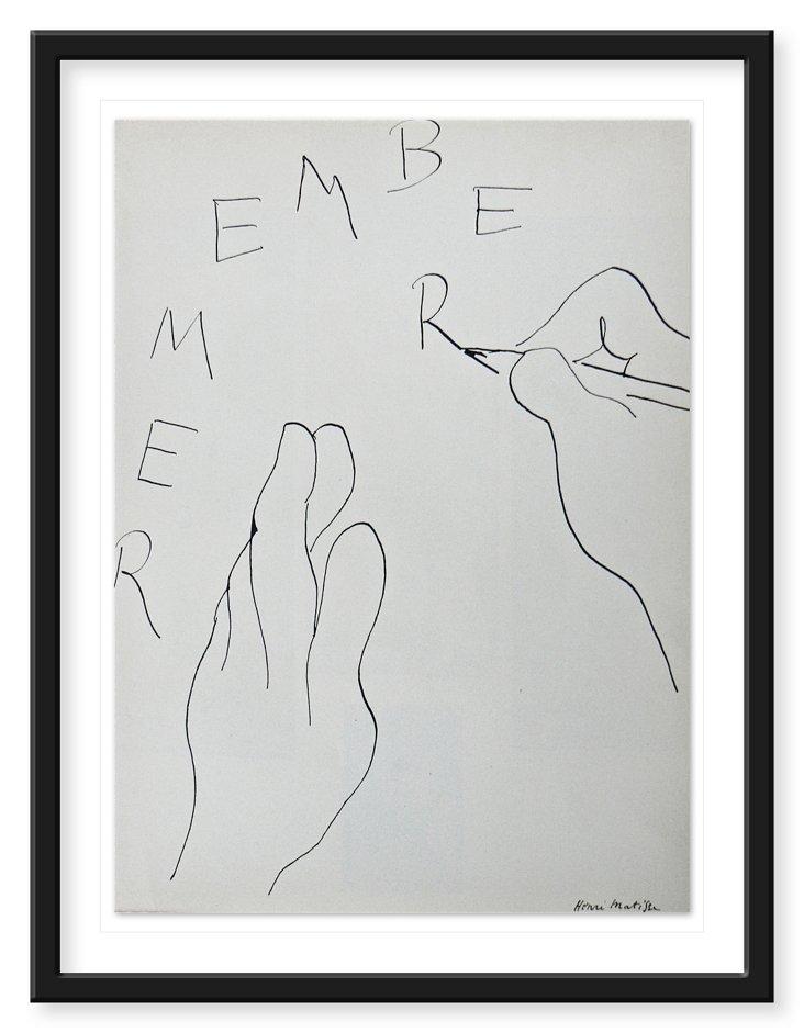 Henri Matisse,  Remember 1938