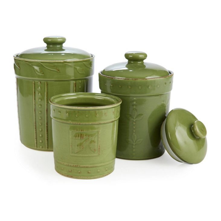 S/3 Assorted Canisters, Oregano