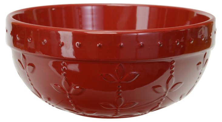 Medium Sorrento Mixing Bowl, Ruby