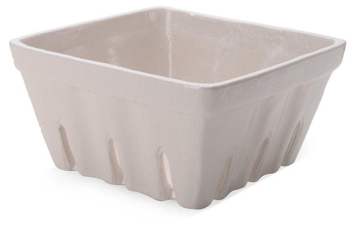 S/2 Ceramic Berry Baskets, Ivory