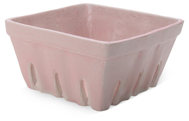 S/2 Ceramic Berry Baskets, Pink