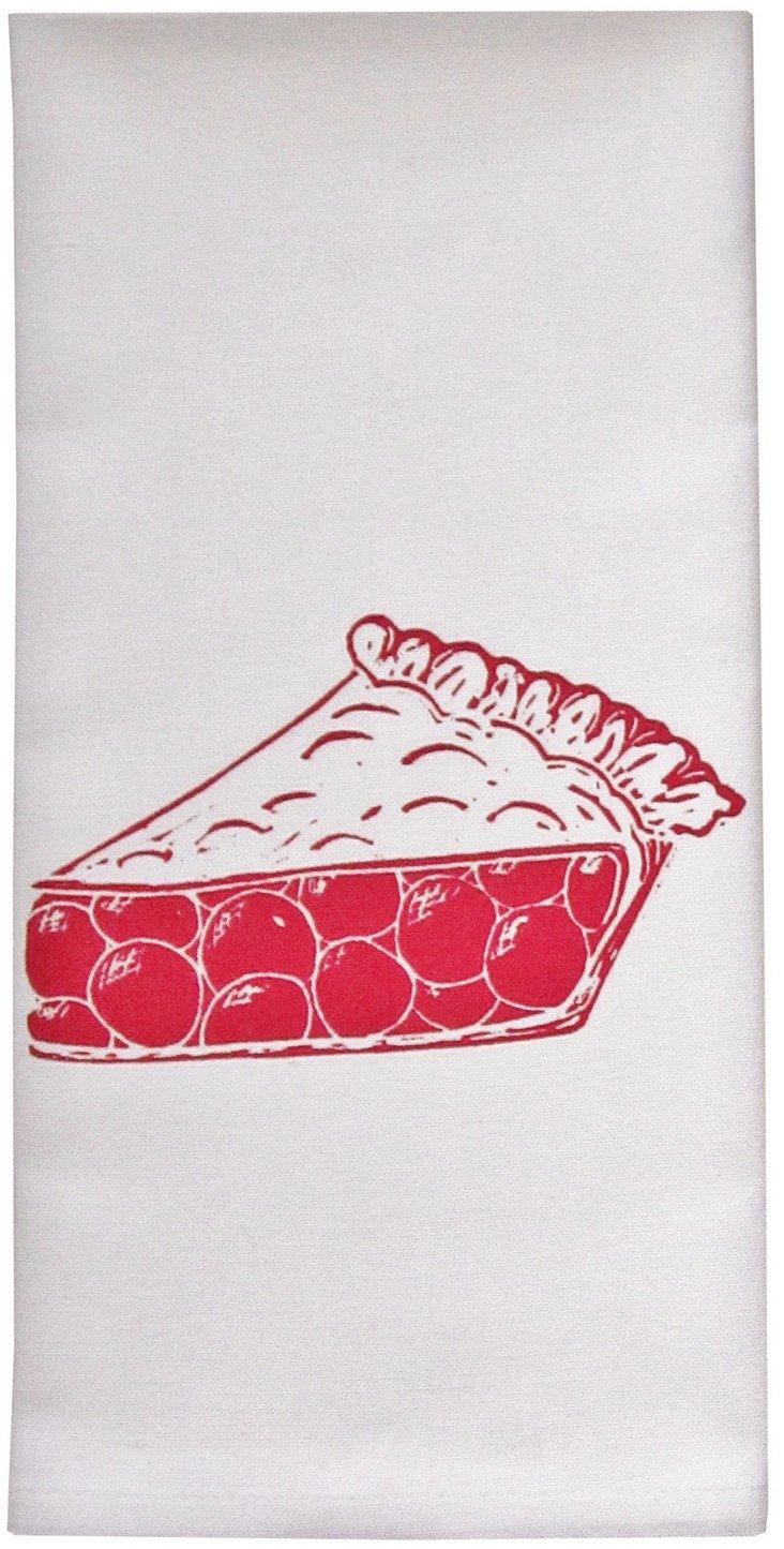 Organic Pie Tea Towel, Red
