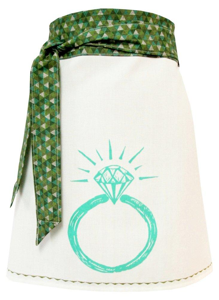 Organic Block-Print Apron, Ring