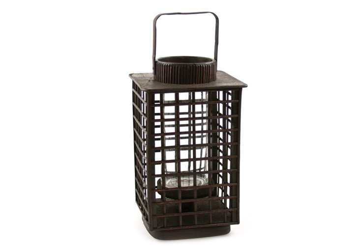 """16"""" Bamboo Lantern, Brown"""