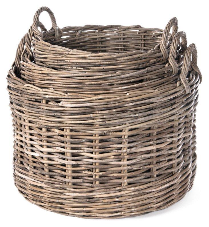 S/3 Assorted Round Baskets