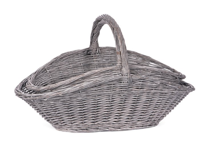 S/2 Gray Willow Baskets