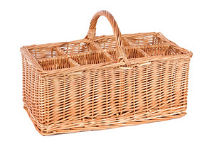 8-Compartment Willow Basket