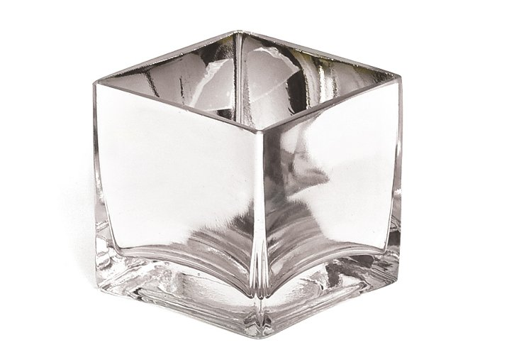 "S/3 3"" Mirrored Cube Vases"