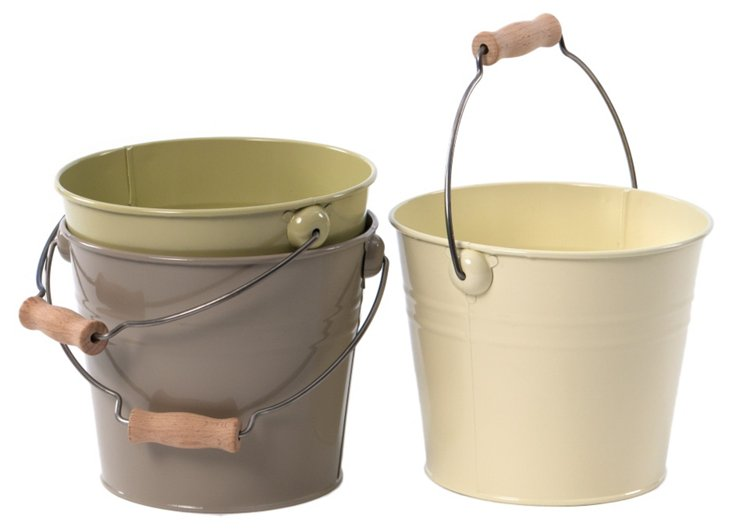 Handled Buckets, Asst. of 3