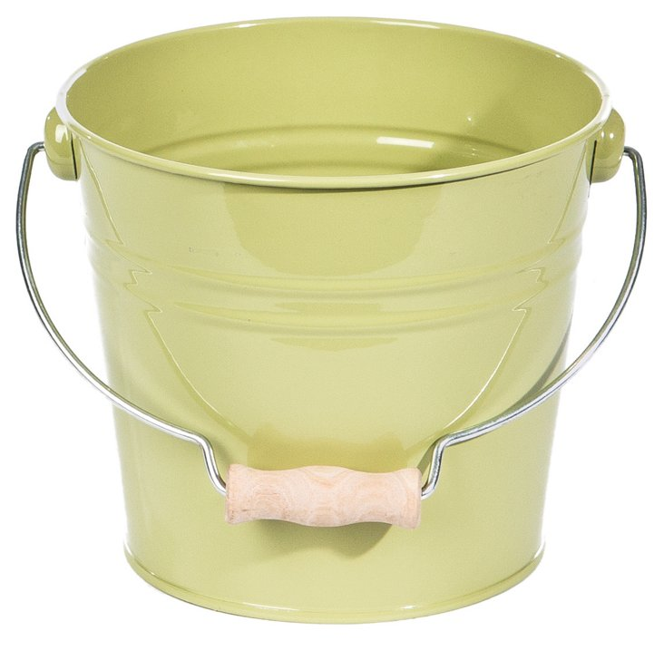S/2 Large Drop Handle Buckets, Green