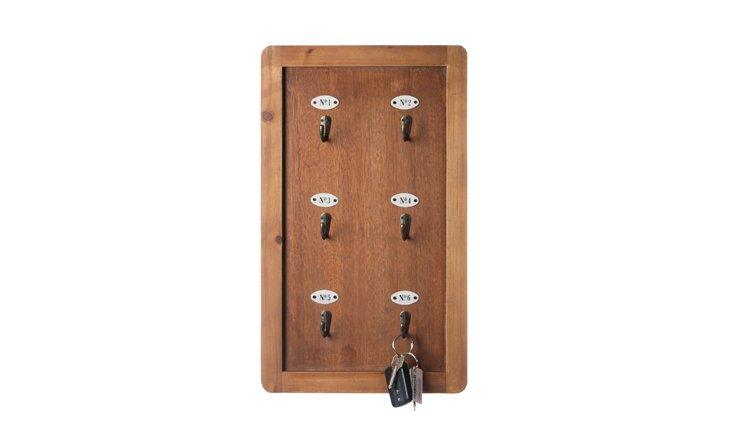 Rectangular Wooden Wall Rack