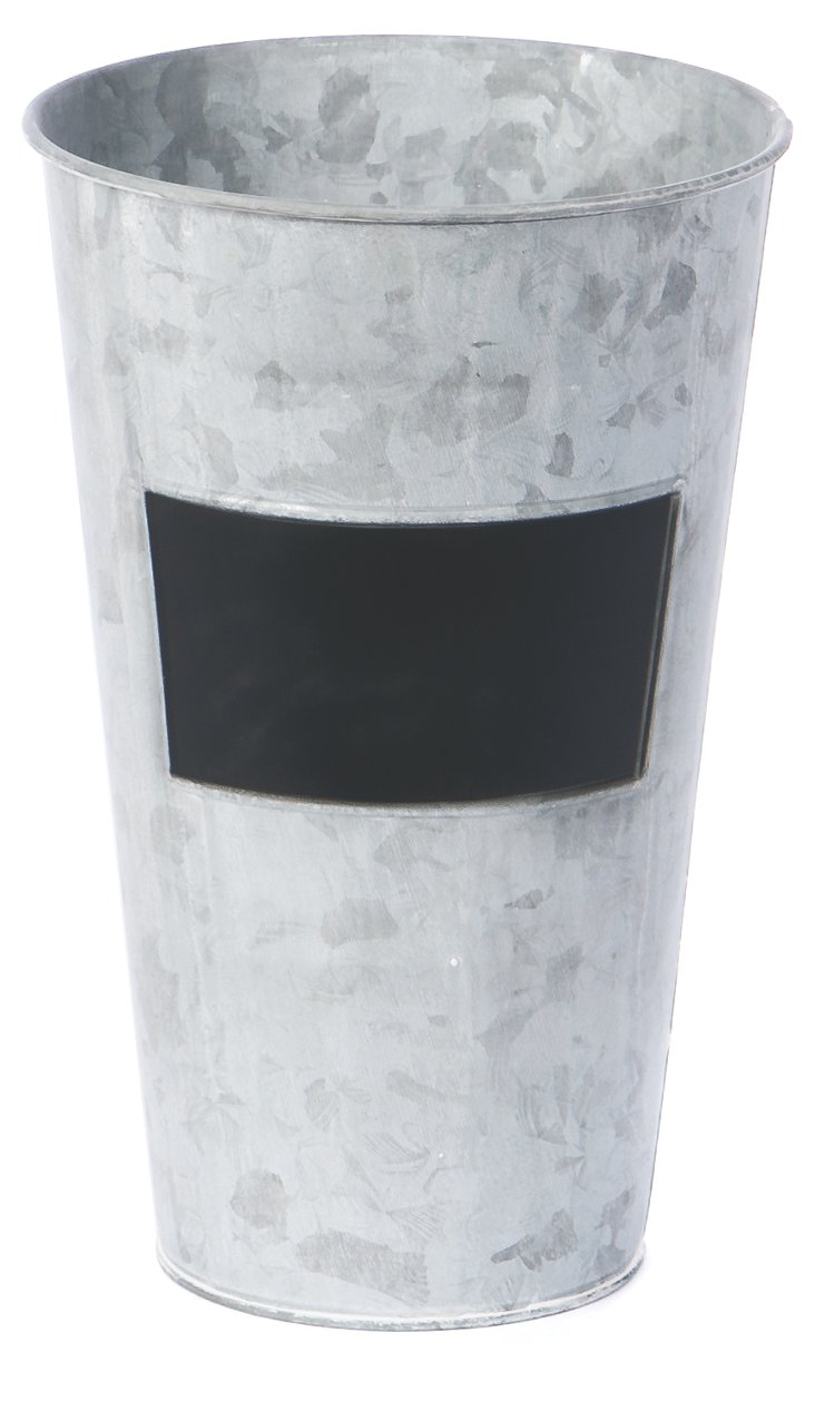 S/2 Chalkboard Tin Containers, Gray