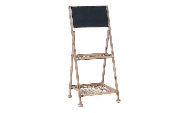 2-Tier Metal Chalkboard Display