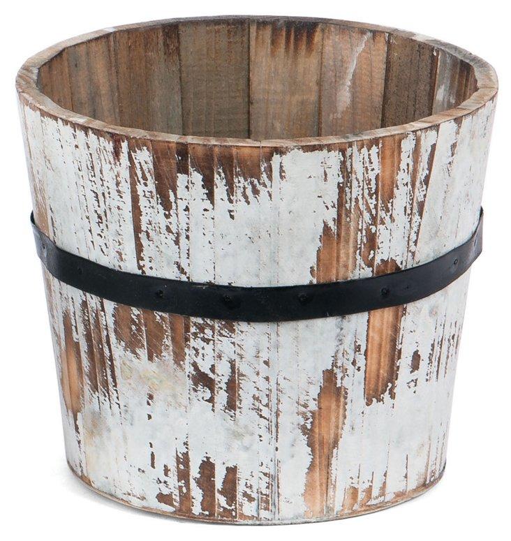 "9"" Wooden Planter"