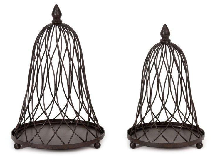 Asst. of 2 Metal Display Birdcages