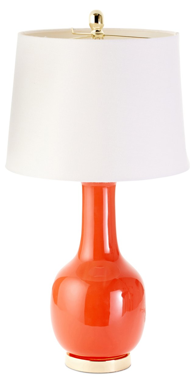Margo Table Lamp, Persimmon