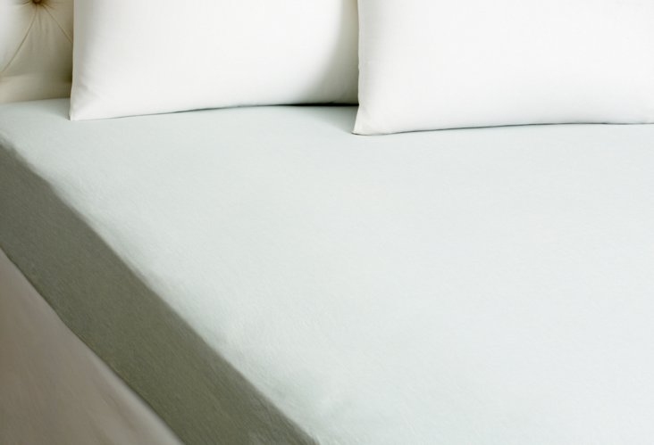 Fitted Linen Sheet, Teal