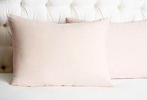 S/2 Linen Pillowcases, Pink