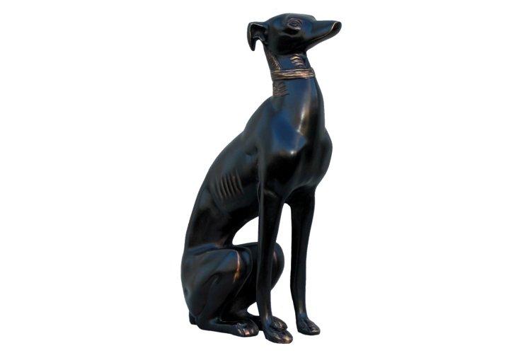 Bronze Finish Dog Statue