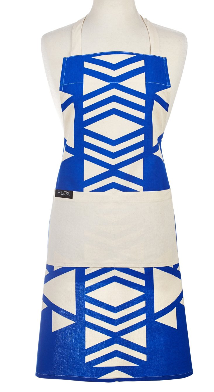 Native Americana Apron, Cobalt Blue