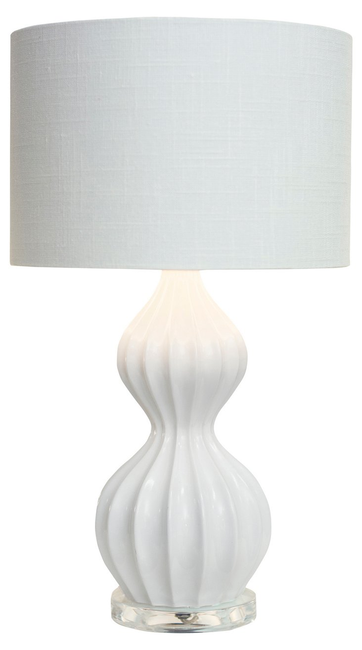 Owens Accent Table Lamp, White