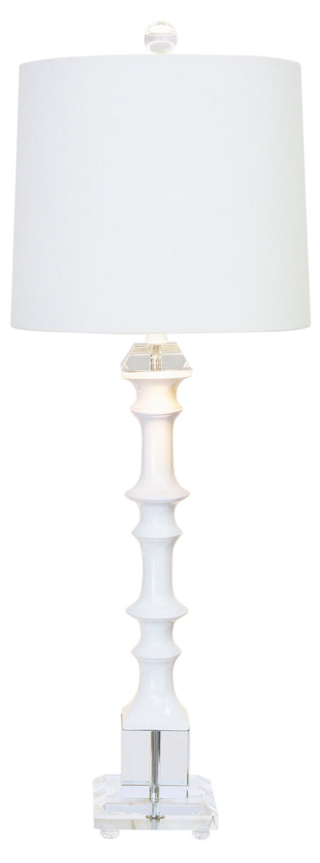Peninsula Buffet Table Lamp, White Gloss
