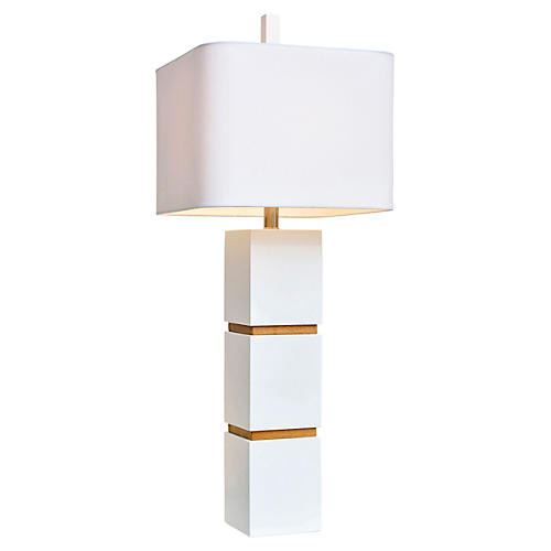 Wilshire Table Lamp, White