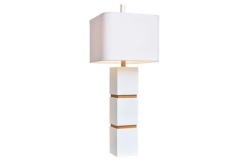 Wilshire Table Lamp, White