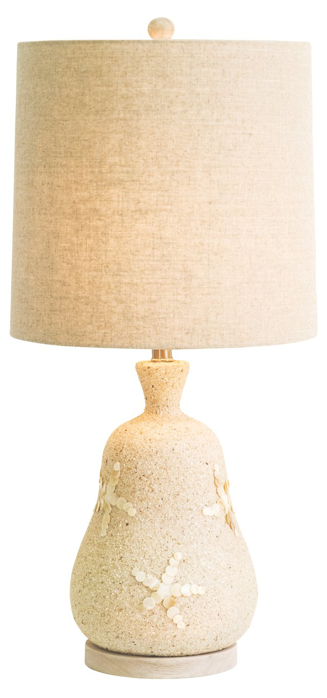 Seaside Table Lamp, Mother-of-Pearl