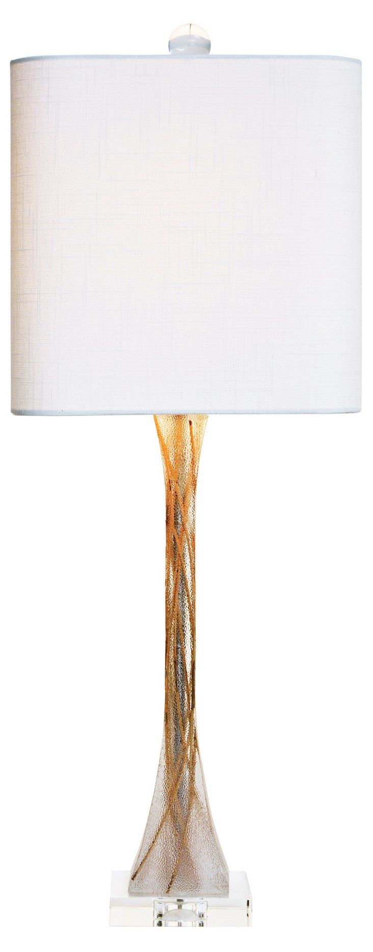 Mirage Table Lamp, Frosted Clear