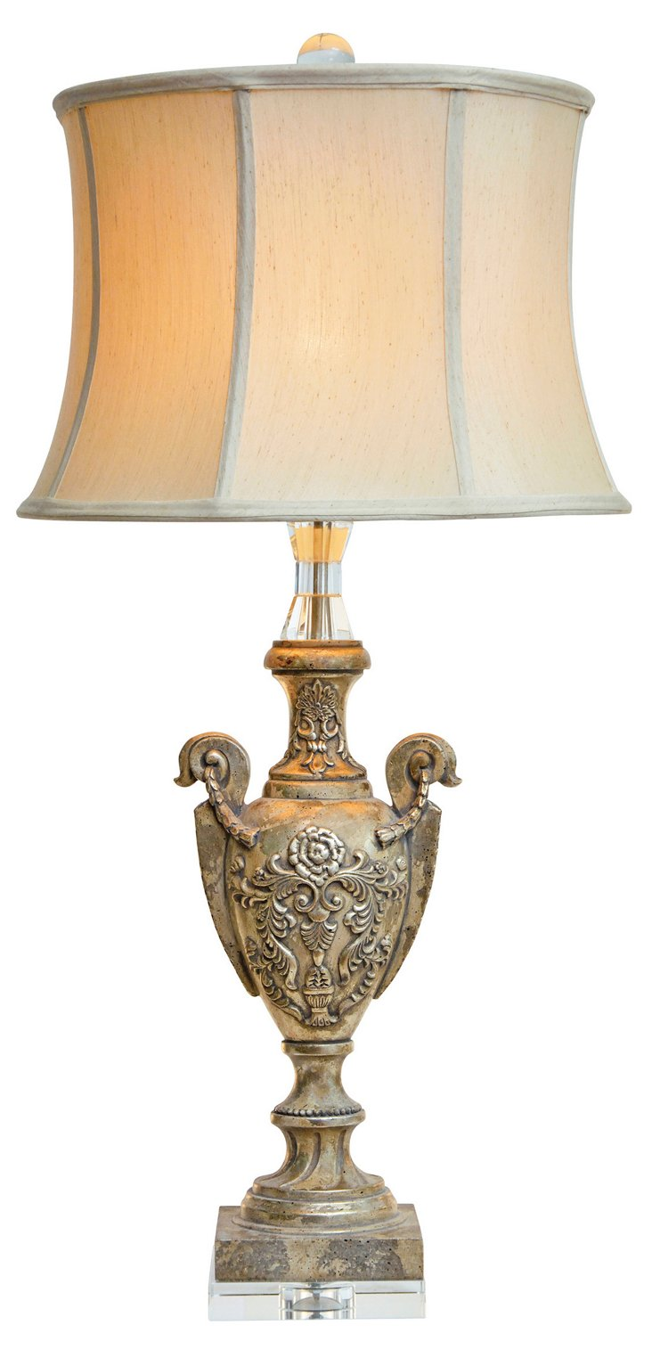 Positano Table Lamp, Silver