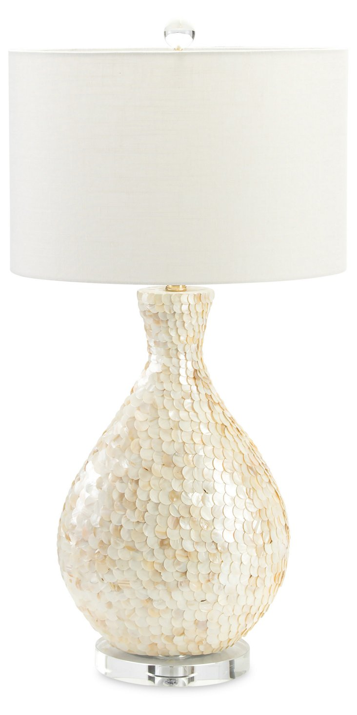 La Pearla Table Lamp, Mother-of-Pearl