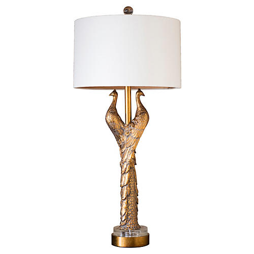 Hera Table Lamp, Gold