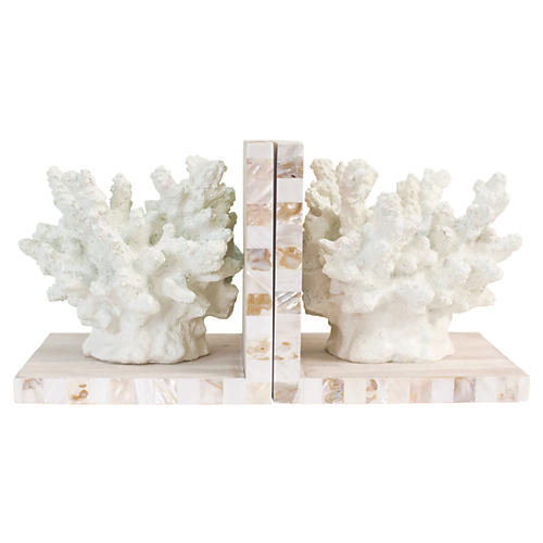 Pair of Largo Bookends, White