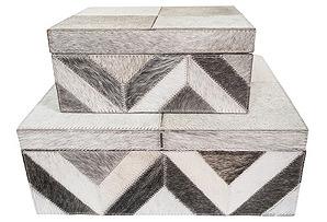 Asst. of 2 Palisades Boxes, Gray