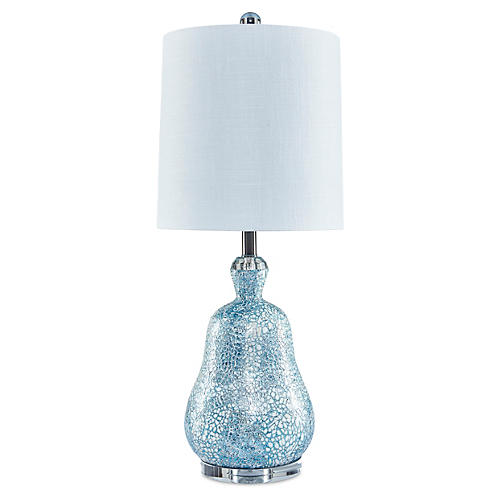 St. Lucia Table Lamp, Blue Melange