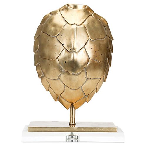 "16"" Tortoise Finial, Gold"