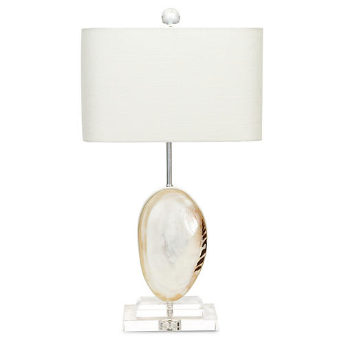 Oceanside Table Lamp, Mother-of-Pearl
