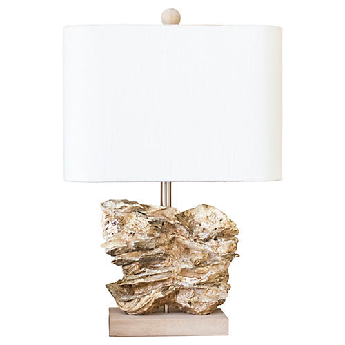 Natura Table Lamp, Oyster Shell