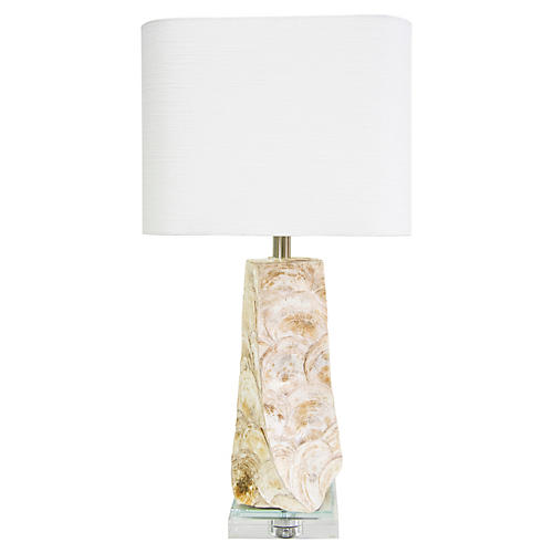 Del Mar Table Lamp, White