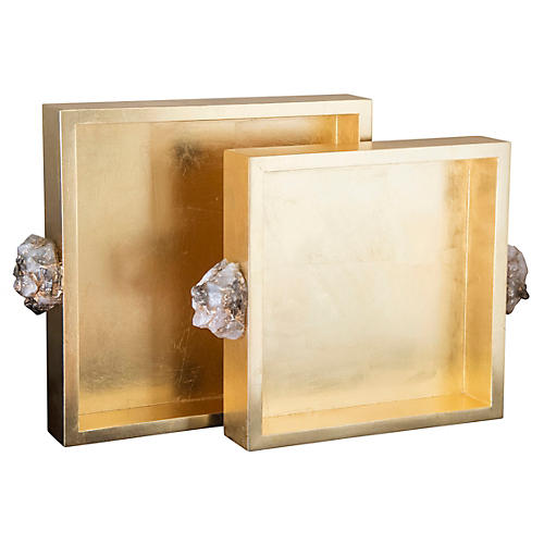 Asst. of 2 Astoria Quartz Square Trays